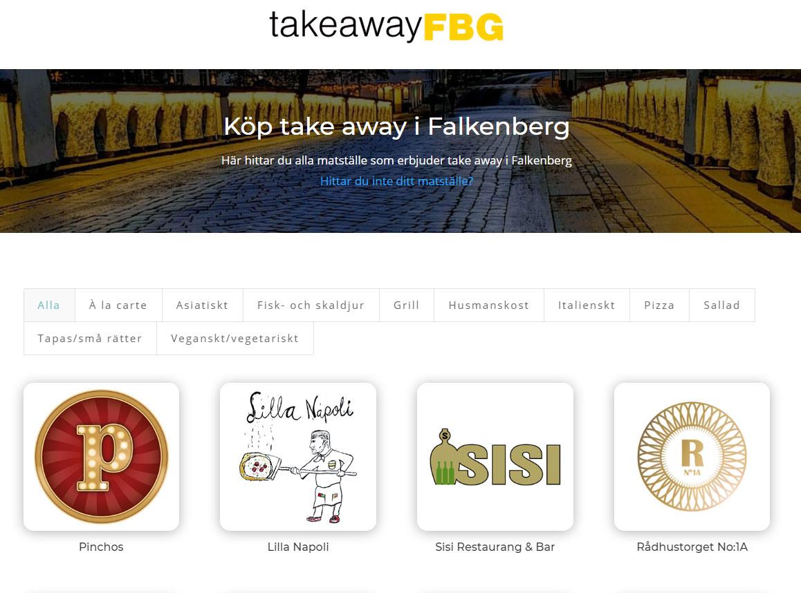 take away i Falkenberg